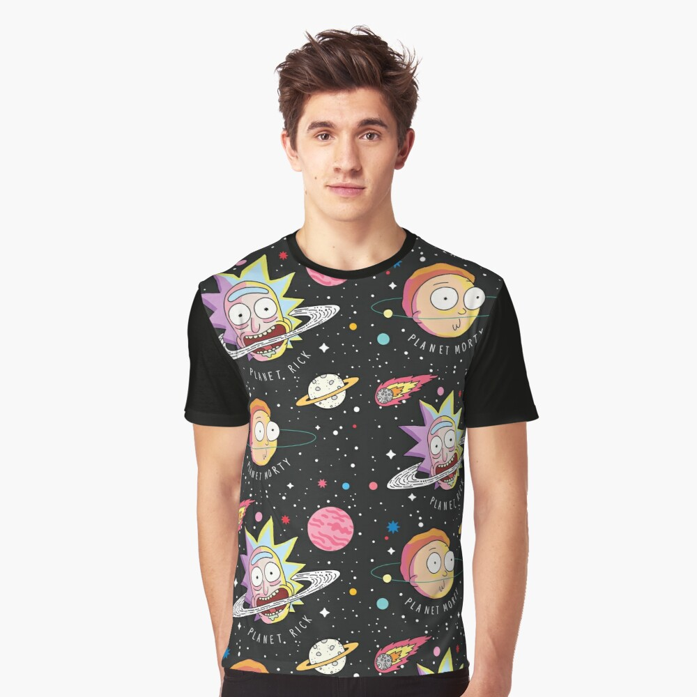 Rick and Morty Planets Graphic T-Shirt