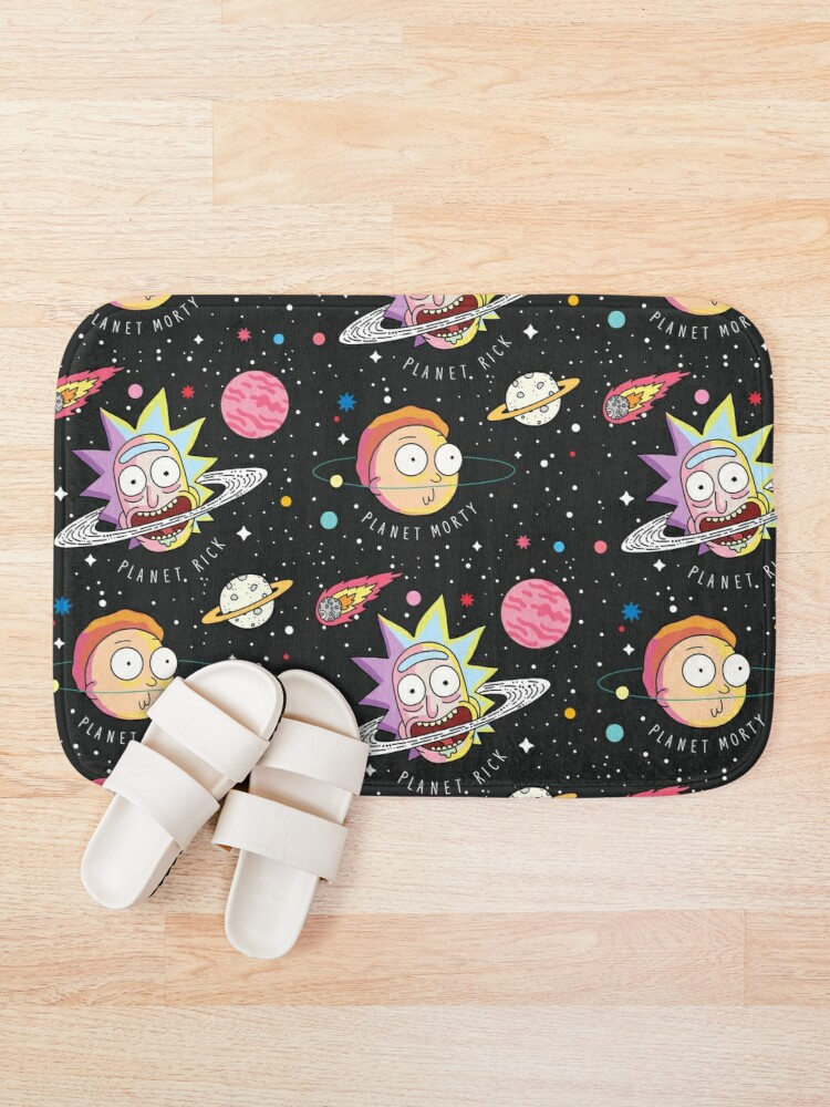 Alternate view of Rick and Morty Planets Bath Mat