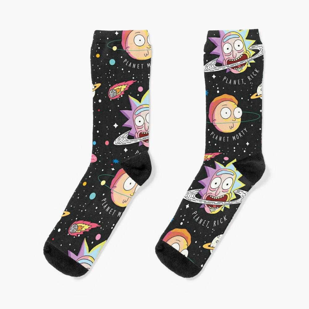 Rick and Morty Planets Socks