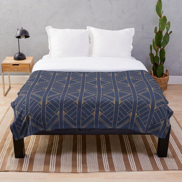 Rockefeller Inspired Blue Throw Blanket