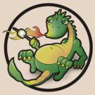 Cute Dragon T-shirt by ArtNouveau