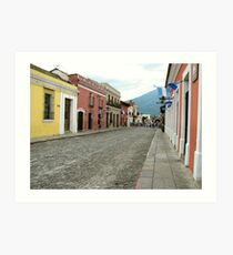 Antigua streetscape Art Print