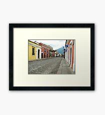 Antigua streetscape Framed Print