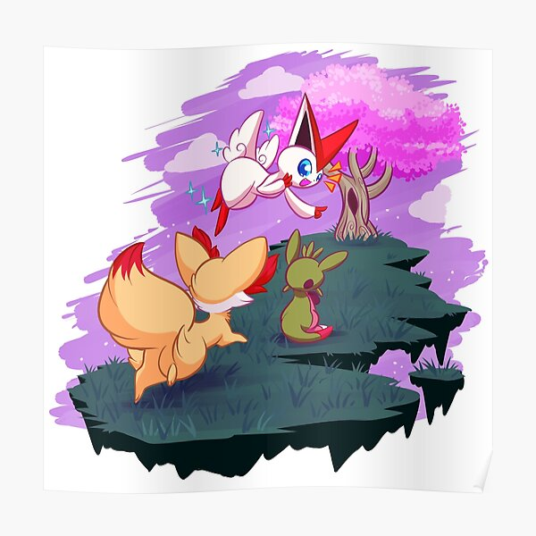 Victini and the Sakura Tree Poster