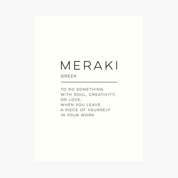 Meraki Definición Lámina artística