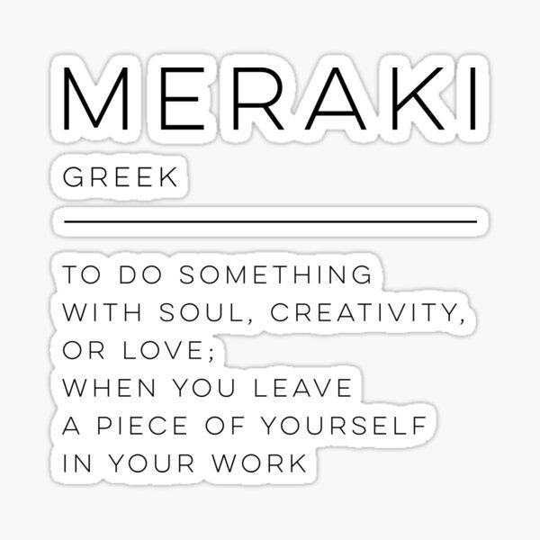 Meraki Definición Pegatina
