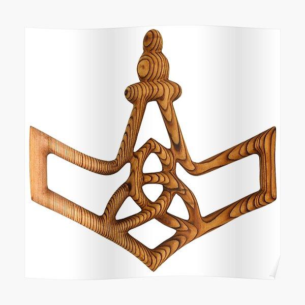 Thor's Hammer Mjolnir Viking War Hammer Poster