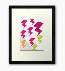 Struck by lightning Framed Print