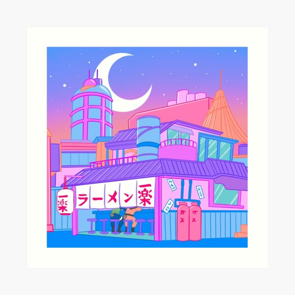 Ramen with Sensei Art Print