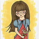 Little girl with flowers by lexilou37