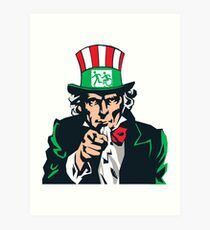 Accessible Exit Sign Project Uncle Sam Art Print
