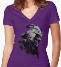 Shredded Women's Fitted V-Neck T-Shirt