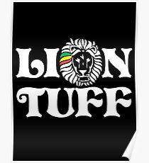 Lion Tuff HRZ WHT 2LN Poster