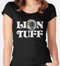 Lion Tuff HRZ WHT 2LN Women's Fitted Scoop T-Shirt