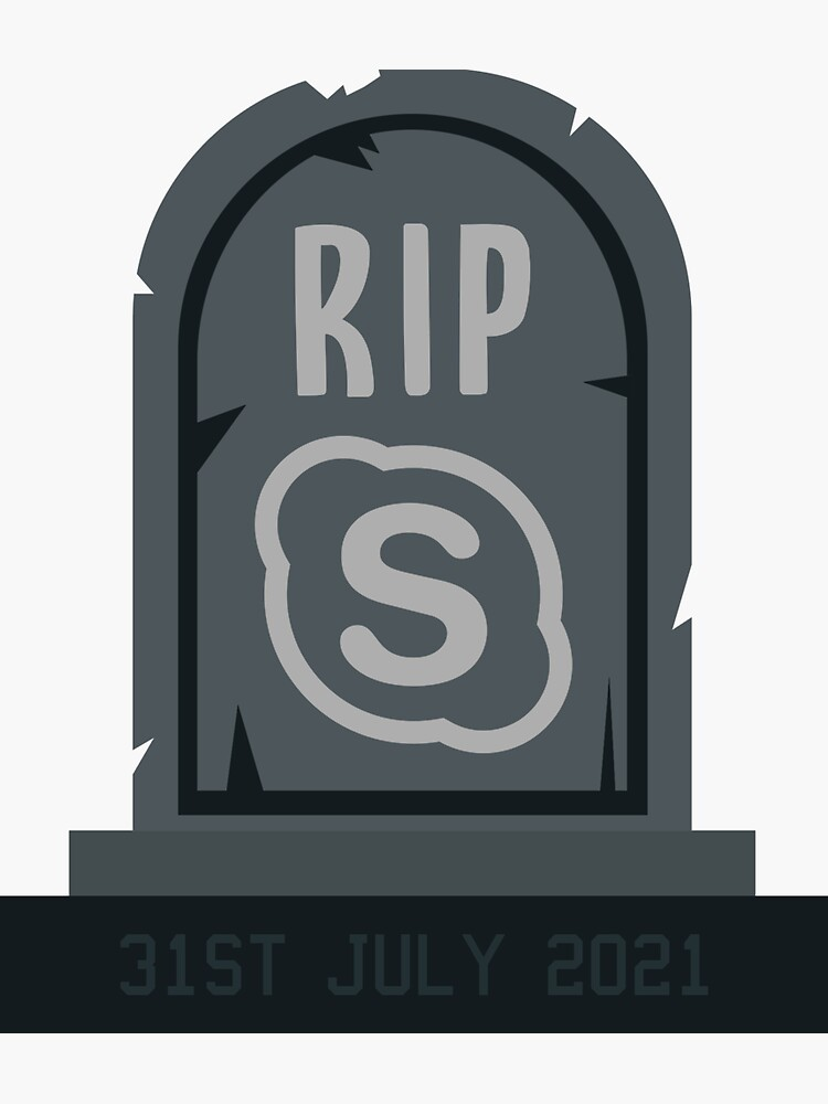 RIP SFBO Microsoft Sticker. Skype for Business Online by msft-stickers
