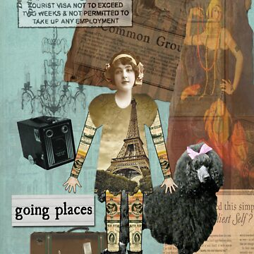 Altered Art Vintage Travel Collage by Gidget26