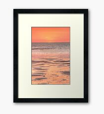 Cable beach sunset colours Framed Print