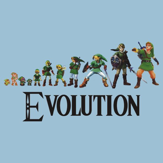 TShirtGifter presents: Zelda Evolution