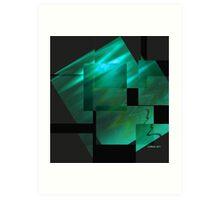 Tutorial in Turquoise.. Art Print