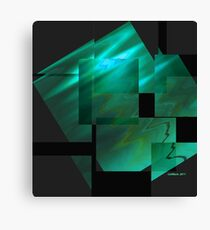 Tutorial in Turquoise.. Canvas Print