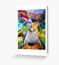 La India. Handmade Photo Collage Greeting Card