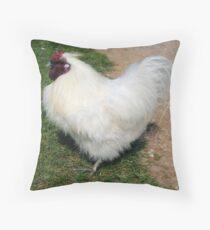 White Chick Throw Pillow