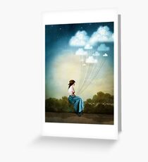 Blue Thoughts Greeting Card
