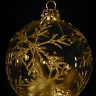 Snowflake Bauble (gold) by Lou Wilson