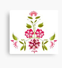 Flower Power - White Canvas Print