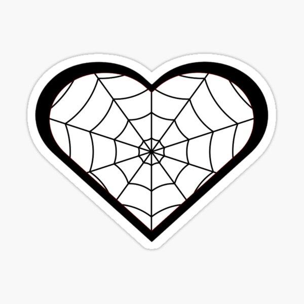 Web Heart Sticker