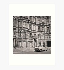 Trabant in front of Apartment Building: Berlin Art Print