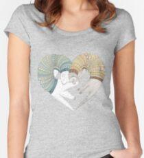 Ferret sleep Women's Fitted Scoop T-Shirt