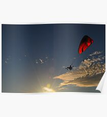 Power Paragliding  on a Summer Day Poster