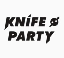 Knife Party - Black Text Logo T-Shirt