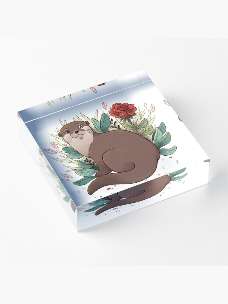 Alternate view of Otter Acrylic Block