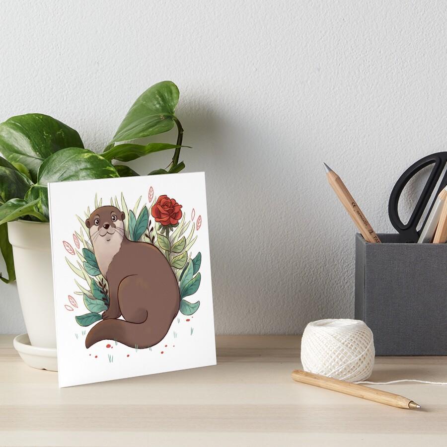 Otter Art Board Print