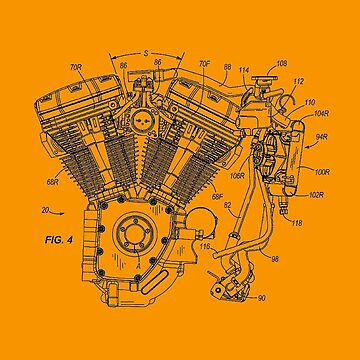 Harley Davidson water cooled engine (patented) T-shirt etc by timothybeighton