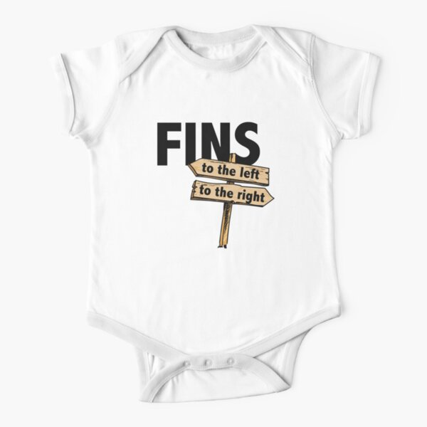 You Got Fins to the Left, Fins to the Right! Short Sleeve Baby One-Piece