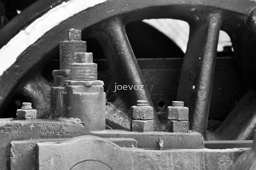 Close Up Train Wheel by joevoz