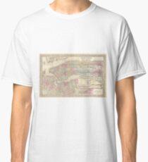 Camiseta clásica Vintage Map of NYC and Brooklyn (1882)