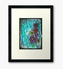 Grungy Garden Framed Print