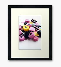 Old Fashioned Retro Sweet Shop Pile of Colourful Liquorice Sweets Framed Print