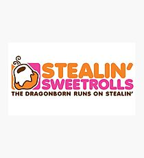 Stealin' Sweetrolls Photographic Print
