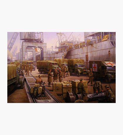 The 52nd Lowland at Cherbourg 1940 Photographic Print