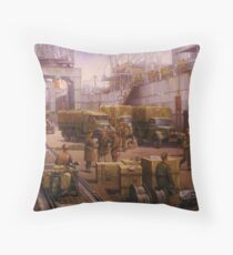 The 52nd Lowland at Cherbourg 1940 Throw Pillow