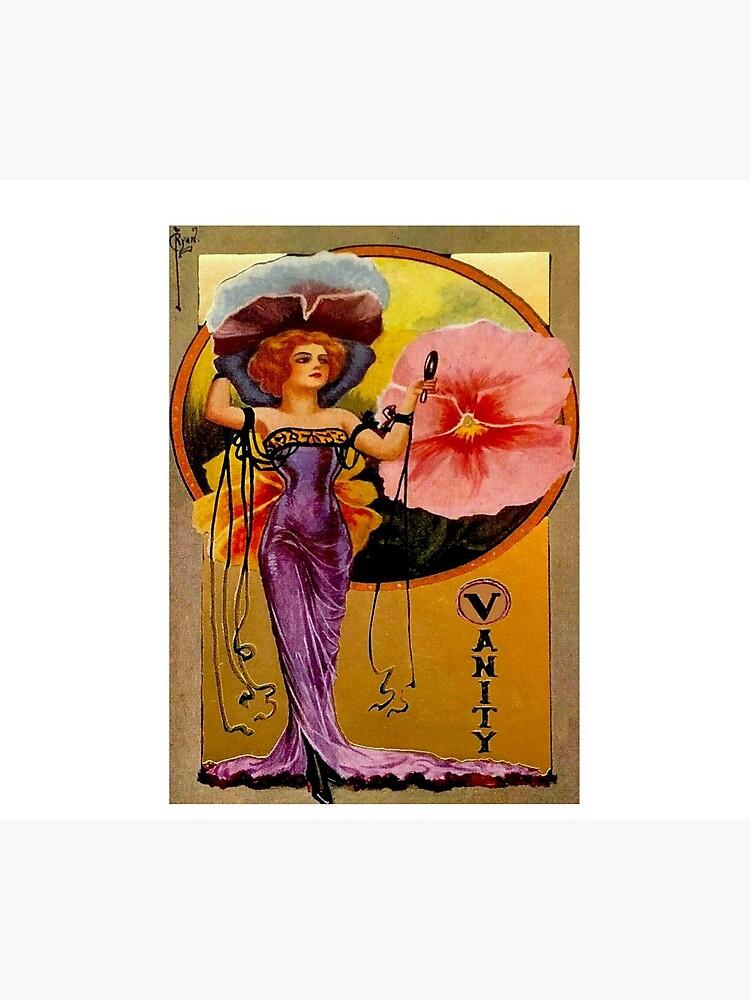 FLAPPER VANITY : Vintage 1925 Art Deco Print by posterbobs
