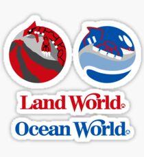 Sticker Pack! Hoenn Theme Parks: Land World + Ocean World Sticker