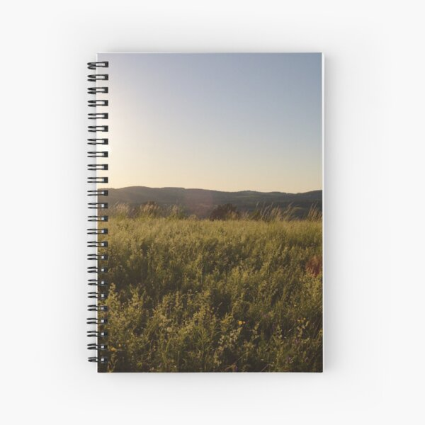 Sunset Field Spiral Notebook