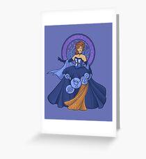 Gallifreyan Girl Greeting Card