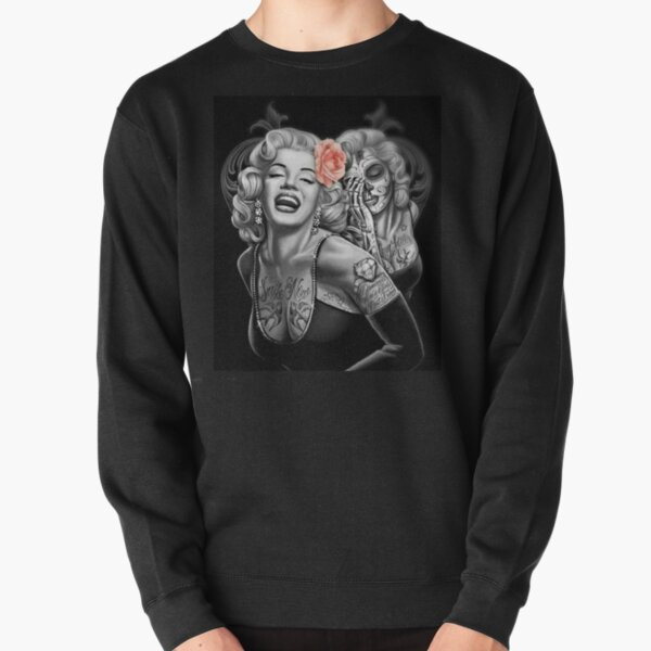 Marylin Monroe smile now cry later Pullover Sweatshirt